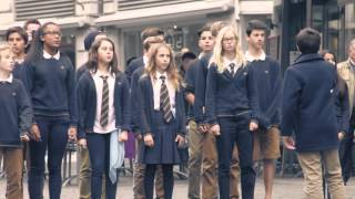 """getlinkyoutube.com-Wow Flash Mob! Students sing """"Best Day of My Life"""""""
