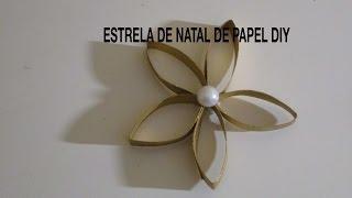getlinkyoutube.com-Estrela de natal de papel diy