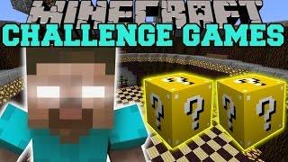 getlinkyoutube.com-Minecraft: HEROBRINE CHALLENGE GAMES - Lucky Block Mod - Modded Mini-Game