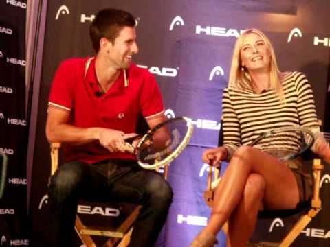 Part 1: Novak Djokovic & Maria Sharapova: NYC Head Tennis Event  (by Tennis Panorama News)
