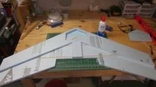 "getlinkyoutube.com-Scratch build 47"" flying wing"
