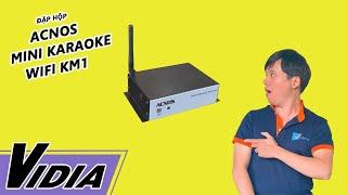 getlinkyoutube.com-Đập Hộp Đầu Karaoke Giá Rẻ Acnos Mini Karaoke Wifi KM1 - Vidia Channel