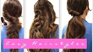 getlinkyoutube.com-4 EASY Lazy HAIRSTYLES | Fall Hairstyle for Medium + LONG HAIR