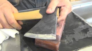 getlinkyoutube.com-Gransfors & Wetterlings axe sharpening