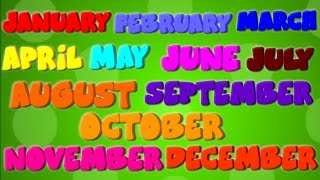 getlinkyoutube.com-Months Of The Year | Nursery Rhymes | Learning Videos For Kids