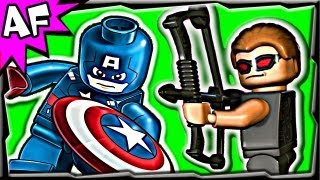 getlinkyoutube.com-HAWKEYE SUPERHERO FAIL - Is he really a super hero? Lego Super Heroes Brick Film