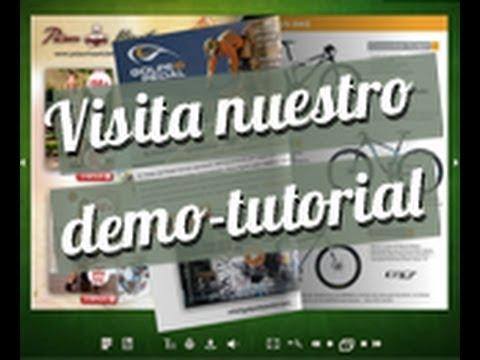 Demo-tutorial sobre la confección de catálogos digitales de www.facetopage.com