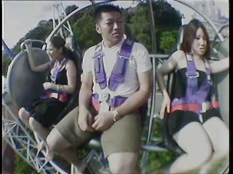 シンガポール 昼間の逆バンジー