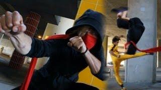 getlinkyoutube.com-Jeet Kune do vs Tae Kwon Do Ninjutsu