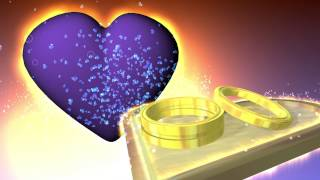 getlinkyoutube.com-Hearts and Wedding Ring animation Scene  Free Footage Stock Background Video Effect Footage AA VFX