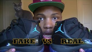 "getlinkyoutube.com-Comparison #1: Authentic Vs. Replica Air Jordan Retro 11 ""Gamma"" HD Review!!!"