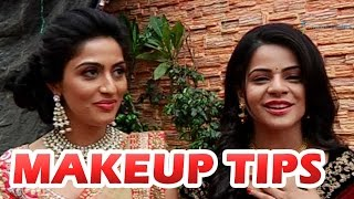 getlinkyoutube.com-Jigyasa Singh and Monica Khanna give out special make up tips