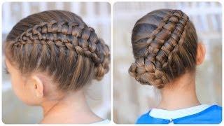 getlinkyoutube.com-Zipper Braid Updo | Cute Girls Hairstyles