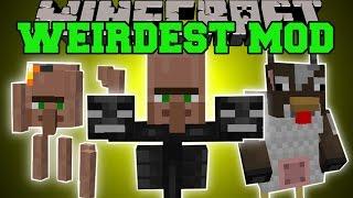 getlinkyoutube.com-Minecraft: WEIRDEST MINECRAFT MOD (RUN FOR YOUR LIFE!!!) Mod Showcase