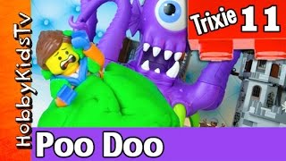 getlinkyoutube.com-Trixie 11 Play Doh Poo Imaginext Alien by HobbyKidsTV