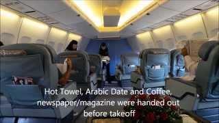 A rare glimpse into Saudi Arabian Airlines (Saudia) B747-400 Intercontinental Business Class