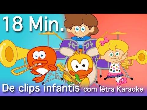 18 Minutos de clips infantis  - originais e educativos - com letra Karaokê