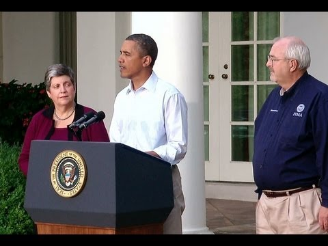 President Obama Delivers a Statement on Hurricane Irene