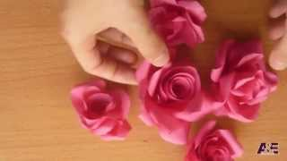 getlinkyoutube.com-Super Easy Way to Make A ' Real Rose ' From Paper Tutorial