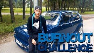getlinkyoutube.com-Burnout Challenge | Volkswagen Golf Mk1