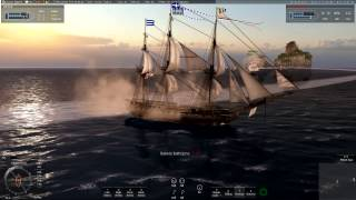 getlinkyoutube.com-Naval Action: Big PVP battle (HMS Trincomalee)