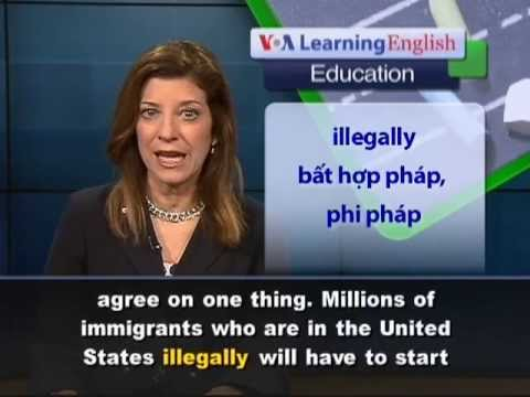 Anh ng c bit: English Classes for Immigrants (VOA)