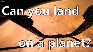 getlinkyoutube.com-Elite Dangerous Landing on planet Tilian 1. Is planetary landing possible? (beta)