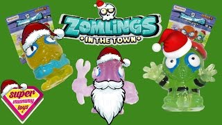 getlinkyoutube.com-Zomlings Christmas Special Series 4 Blind Bags Toy Unboxing