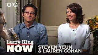 getlinkyoutube.com-The Walking Dead Stars On Filming Sex Scenes   Larry King Now - Ora TV