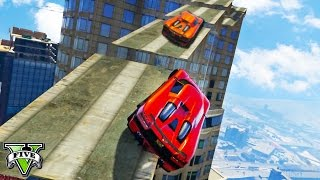 GTA 5 Funny Moments NEW Extreme Rockstar Verified Race | Ramp Race in the Sky | GTA V Funny Moments
