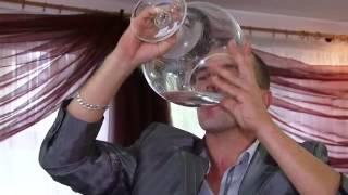 Russian guy drinks two bottles (1L) of vodka on wedding