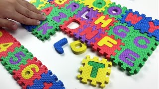 getlinkyoutube.com-Learn ABC (Alphabets) , Numbers and Colors with squishy colorful puzzle. Let's play kids.