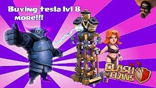 getlinkyoutube.com-Clash of clans - Buying lvl 8 tesla, Pekka lvl 5 & jump spell lvl 3 (w/ gameplay)