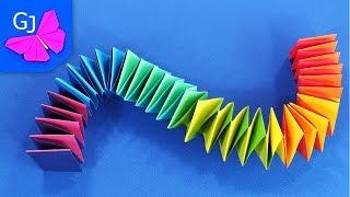 getlinkyoutube.com-Оригами Змейка из бумаги