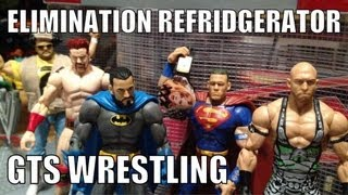 GTS WRESTLING: Elimination Chamber parody wrestling action figure matches stop motion animation