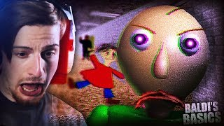HOW IS THIS GAME SO SCARY    Baldi's Basics (Creepy Horror Game)