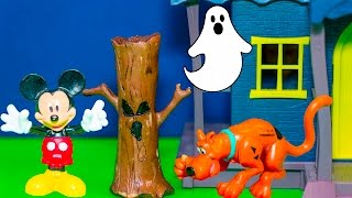 getlinkyoutube.com-SCOOBY DOO and MICKEY MOUSE Ghost Hunt Scooby Doo Video Toys Parody