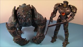 getlinkyoutube.com-NECA PACIFIC RIM 2 PACK BATTLE DAMAGED GIPSY DANGER vs LEATHERBACK ACTION FIGURES MOVIE TOY REVIEW