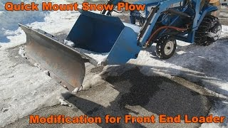 getlinkyoutube.com-Quick Mount Snow Plow Modifcation for Garden Tractor Loader