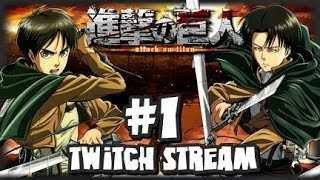 getlinkyoutube.com-Attack on Titan Last Wings of Mankind 3DS - Story Mode Part 1 (Twitch Stream Upload)