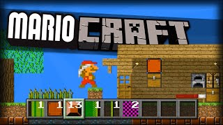getlinkyoutube.com-MINECRAFT CUSTOM LEVELS!? BUILD In Mario!! | Mari0