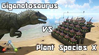 getlinkyoutube.com-ARK: Survival Evolved - Giganotosaurus vs Plant Species X - Dino Battle