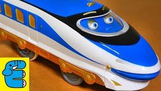 getlinkyoutube.com-プラレールチャギントン#4 ハンゾー vs 新幹線 どっちが速いか競争だ! Plarail Chuggington #4 Hanzo vs Bullet Trains