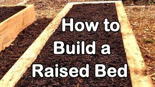 getlinkyoutube.com-How to Build a Raised Garden Bed with Wood - Easy (EZ) & Cheap