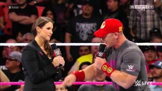 Raw 10/27/14 | Stephanie McMahon, Triple H, & John Cena Segment