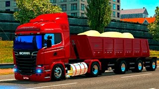 getlinkyoutube.com-EURO TRUCK SIMULATOR 2►MODS REVIEWS►SCANIA STREAMlINE+CARRETA RANDOM