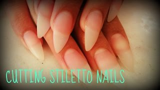 HOW TO CUT STILETTO NAILS TUTORIAL