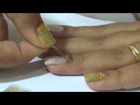 Como aplicar adesivos nas unhas (Adesivo Decorativo para Unhas)