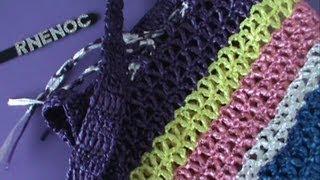 getlinkyoutube.com-BOLSA TEJIDA CON RAFIA parte 1 ganchillo, crochet purse DIY