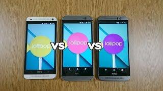 HTC One M9 VS M8 VS M7 Official Lollipop - Speed Test